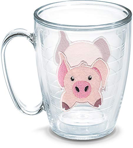Tervis 1133504 Front & Back Pig Insulated Tumbler with Emblem, 16oz Mug, Clear Titan Insulated Mug