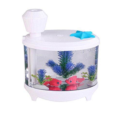Wildlead 460 ml USB Aquarium Ultraschall-luftbefeuchter Nebelhersteller LED Nachtlicht Zerstäuber Ätherisches Öl Aroma Diffusor