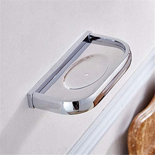 KYKDY Modern Style Chrome Badezimmer Zubehör Mode Bad Handtuchhalter Halter Papierhalter Regal Handtuchhalter Bad Hardware Set, Seifenschale -