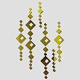 WSKRZS Grand modèle Multi-pièces Nouveau modèle de Balle Chaude Vente limité Acrylique pour Stickers muraux Miroir décoration de la Maison...
