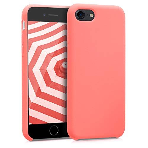 kwmobile Funda para Apple iPhone 7/8 - Carcasa de [TPU] para teléfono móvil - Cover [Trasero] en [Coral neón]