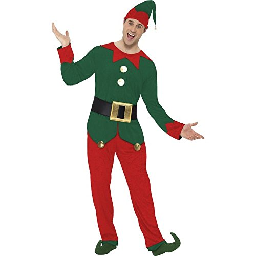 Herren Kostüm Elf Weihnachtself Karneval Fasching Weihnachten Gr.XL