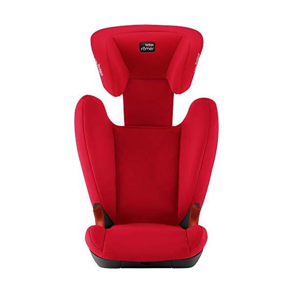 Britax Römer KID II BLACK SERIES Group 2-3 (15-36 kg) Car Seat - Fire Red Britax Römer High back booster protection Easy adjustable, ergonomic headrest Adjustable v-shaped backrest 4