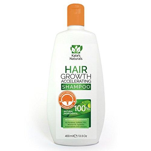 Haarwachstum Beschleunigung Shampoo von Kates Naturals - 100% natürliche Zutaten - 400ml - Schnelle und effektive Ergebnisse mit Arganöl, Rizinusöl, Jojobaöl, Rosmaryöl und vieles mehr (Schnell öl Für Das Haarwachstum)