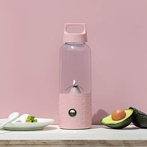 SUNLMG Vitamin-Juicer, Der Mini-Elektrischen Juicer Auflädt Tragbarer Kleiner Juicer-Multifunktionslebensmittel-Nahrungs-Nahrung-Gesundes Obst Und Gemüse-Saft-Hohe Saft-Rate Einfach Zu Säubern,Pink