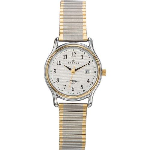 Certus  642319 - Reloj de cuarzo para mujer, con correa de metal, color bicolor