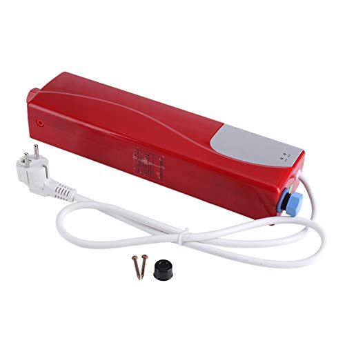 220 V 3000 W Mini Chauffe-Eau Instantané Électrique Sans Réservoir Salle De Bains Cuisine Lave UE Plug(rouge)