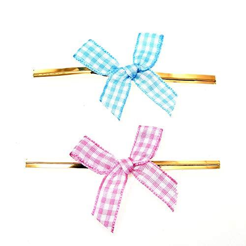 Schleife Twist Tie Gold Twist Tie mit Band für Cake Pops Versiegeln Cello Taschen Lollipop Paket ()