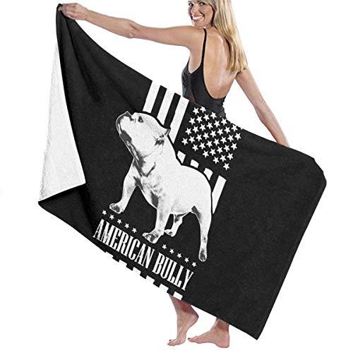 FSTGFFST American Flag Bully Strandhandtücher Ultra saugfähig Mikrofaser Badetuch Picknickmatte für Männer Frauen Kinder