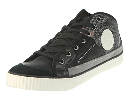 Pepe Jeans Industry Half Mix, Sneakers Basses Homme Noir (Black)
