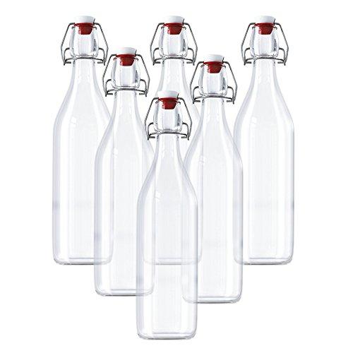 Kurtzy Botellas Vidrio Herméticas Con Tapón - 6