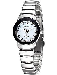 Reloj rentable Cubiertos Blanco, 5083 Amantes de la Moda Hombres Estilo Piedras de imitación Número