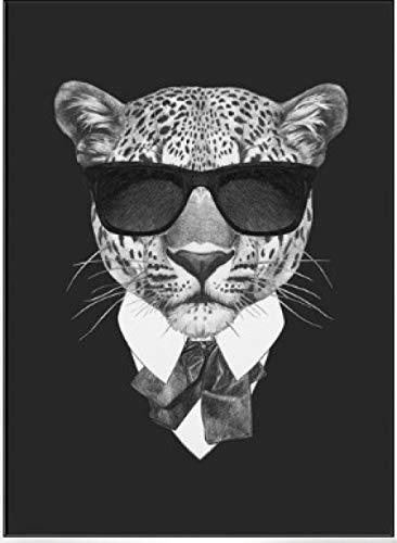 Design Wohnzimmer Schlafzimmer Restaurant Landschaft Inkjet dekorative Wandbild Digitale Malerei handbemalte DIY Digitale Malerei Anzug Gepard ()