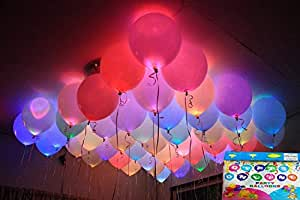 Jiada LED Balloons for Party Festival Celebrations (Set of 25)
