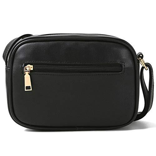 Sammlung Mit Reißverschluss, Kupplung Brieftasche (AIFBB Damen Umhängetasche - Umhängetasche mit mehreren Taschen - Umhängetasche aus PU-Leder - Modische Reisetasche mit Sattel - Beiläufige Damentaschen mit Reißverschluss,Black-20 * 15 * 4.5cm)