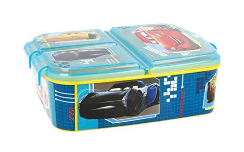 Theonoi Kinder Brotdose / Lunchbox / Sandwichbox wählbar: Frozen PJ Masks Spiderman Avengers - Mickey - Paw aus Kunststoff BPA frei - tolles Geschenk für Kinder (Cars)