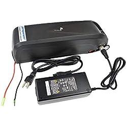Pswpower Batterie de remplacement pour vélo électrique 36V 13Ah + chargeur 42V 2A, batterie Li-Ion pour vélo électrique, scooters, tricycle électrique, compatible avec moteur de 500W