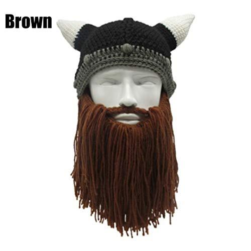 1 STÜCK Männer Frauen Handmade Stricken Barbar Viking -