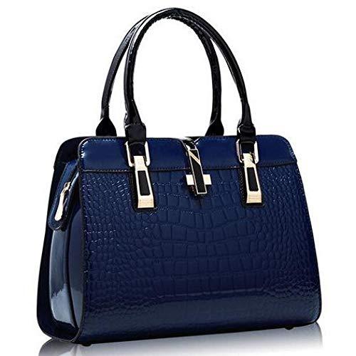 Lock-aktentasche Aus Leder (TMFGX Damenhandtasche Leder Damen Handtasche Große Damen Umhängetaschen Cross Lock Lady Tote Handtasche)