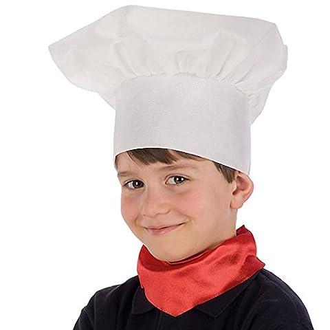 Chapeau toque de Chef Enfant - Accessoire Deguisement Cuisinier - 637