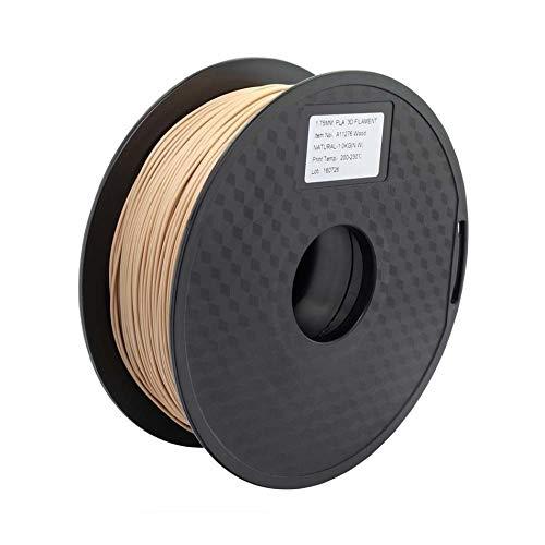 Wang-n-j-3d, zonestar shipping from russia filamento stampante 3d materiali di consumo in plastica pla 1,75 mm 28 colori 1kg / roll (colore : wood)