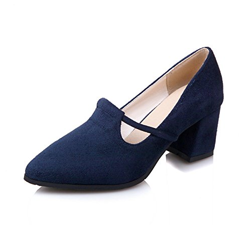 Dimaol Chaussures Femme Vello Automne Printemps Confort Talons Chunky Talon Pointu Toe Pour Bureau Extérieur Et Carrière Bourgogne Bleu Foncé Noir Bleu Foncé