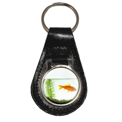 leather-keyring-with-goldfish-in-a-bowl-design