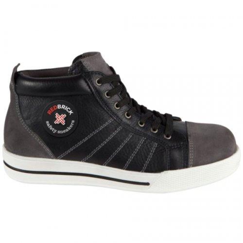 Redbrick - Chaussure De Sécurité Red Brick Haute Type Basket - Couleur : Noir&Gris - Taille : 40 Noir&Gris