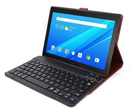 HOM Wireless Bluetooth Keyboard with Detachable Tablet Case for Lenovo Tab 4 10 & Lenovo Tab 4 10 Plus