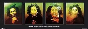 1art1 42462 Bob Marley - Faces I Tür-Poster (158 x 53 cm)