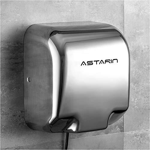 Händetrockner Elektrisch,Handtrockner Edelstahl Automatisch Intelligente Induktions-Weißlufttrockner, WANDMONTAGE Mini-Hochgeschwindigkeits-Trocknungsmaschine mit schneller warmer Luft für Toiletten