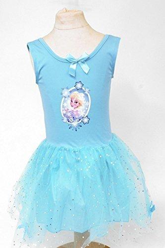 Disney Frozen TuTu Kleid mit Pailletten & Schleifen (Elsa) - (Tutu Elsa Frozen)