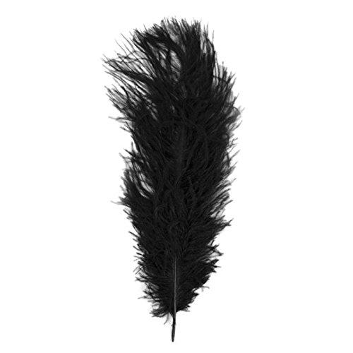 Rayher 8510401 Straußenfeder, 30 cm, SB-Btl. 1 Stück, schwarz