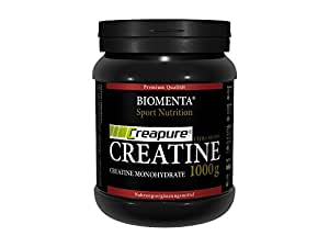 Biomenta® 1000g CREATIN MONOHYDRAT | CREAPURE® Creatine / Kreatin | Deutsche Qualität | VEGAN | Optimiert mit B-VITAMINEN wie B6 (Pyridoxin), B9 (Folsäure) und B12 (Methylcobalamin) | Unterstützt beim Kraftsport & Bodybuilding