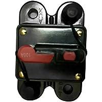 Moliies 50A 60A 80A 100A 125A 150A 200A 250A Opcional Fusible de Interruptor de Circuito de Audio para automóvil en línea para protección 12V SKCB-01-100A