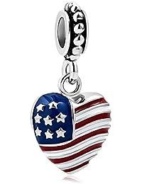 9a8cec9cb1 Amazon.it: la bandiera - Bead Charm / Charm e ciondoli per bracciali ...