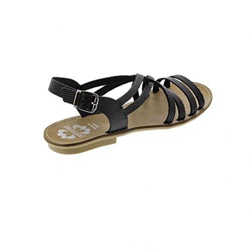 Sandales Vaquetilla Negro e16 - Porronet Noir