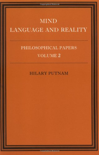 Philosophical Papers: Volume 2, Mind, Language and Reality, Paperback: Mind, Language and Reality v. 2 (Philosophical Papers/Hilary Putnam, Vol 2) por Putnam