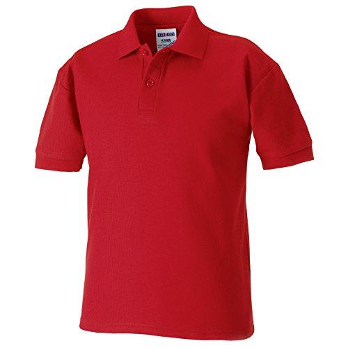 Jerzees Schoolgear Pique Polo Shirt Kids Klassisch Rot