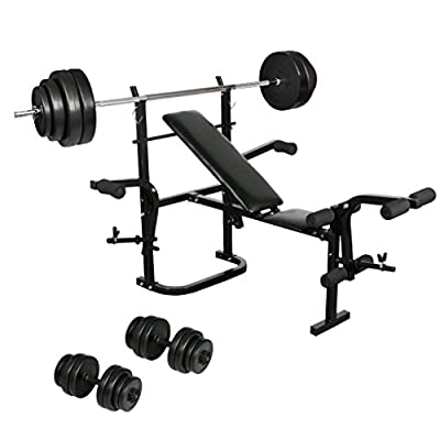Festnight Folding Weight Bench ,Dumbbell Barbell Set Fitness Home Gym from Festnight