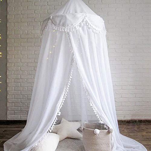 SZPDD Startseite Kinderzelt Baumwolle Moskitonetz Fenstermarkise Babyspiel Lesezelte,White,240x50cm