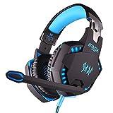 Komfortable Geräuschreduzierung Kristallklarheit 3,5 Mm, Mit Vibrationsdämpfenden LED-Lichtquellen, Starkem Bass HiFi-Computer Esports Gaming Headset - Blau Kopfhörer