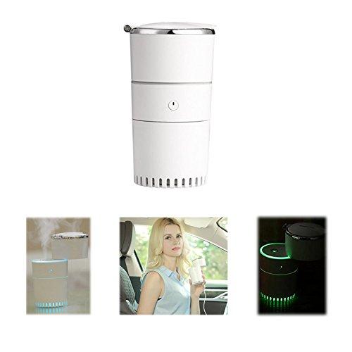 NJ-Car Home Ultraschall-Luftbefeuchter LED Kreative USB-Multifunktionsspeicher Hundert Luft Zerstäuber Für Auto-Home-Office,White