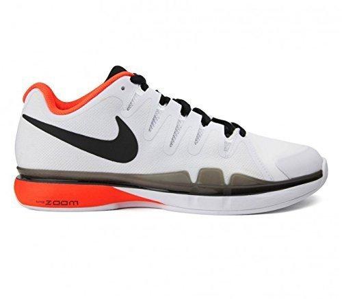 Nike Zoom Vapor 9.5 Tour Clay, Chaussures de Tennis Homme Blanc / Noir / rouge (White / Blk-Ttl Crmsn-Unvrsty Rd)