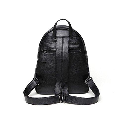 Damen Schultertasche Taschen Tasche Personalisierte Mode Mädchen Pack Rucksack Im Freien Black