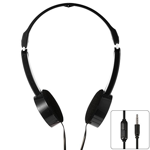 Price comparison product image XCSOURCE 3.5mm Universal Foldable Scalable Line Control MP3 Music Headsets Kids Childs Over-Ear Headphones Black TH338
