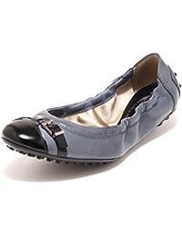 9274 Ballerine Donna Blu Nere Tod  S Scarpe Scarpa Shoes Women dcf7528b5d0e