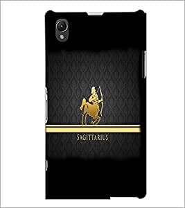 PrintDhaba Zodiac Sagittarius D-4298 Back Case Cover for SONY XPERIA Z1 (Multi-Coloured)