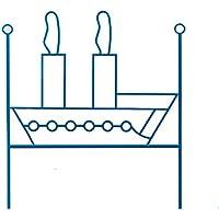 Preisvergleich für dfierro ai-510.090Schiff–Kopfteil aus Schmiedeeisen, 90cm, Rot