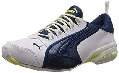 Puma Men's Voltaic II DP White, Poseidon and Sulphur Spring Mesh Running Shoes - 8 UK/India (42 EU)